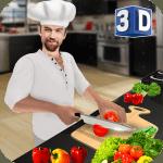 Sanal şef yemek oyunu 3D: süper şef mutfağı